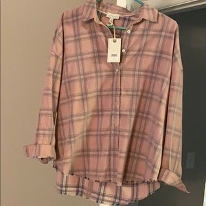 Lucky Brand Size L Hi-Low Cotton Button Down